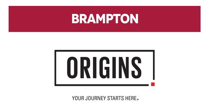 BRAMPTON Origins - You Journey Starts Here
